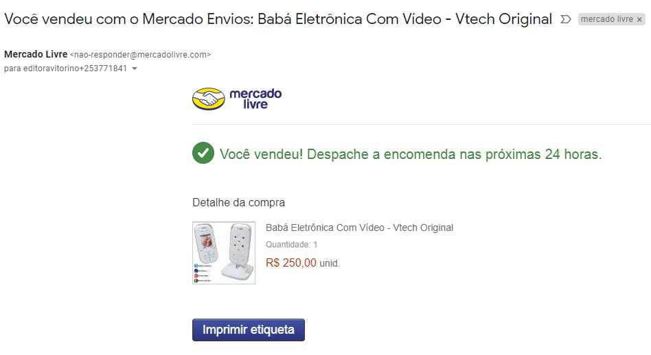 mercado livre babá eletronica